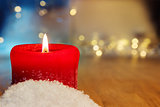 red burning candle background