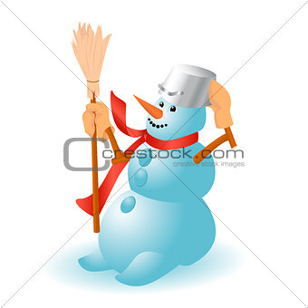 A very cheerful Snowman for Christmas