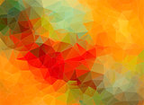 Yellow red abstract polygonal background