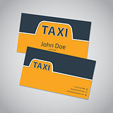 Taxi business card template design