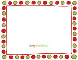 Christmas circle border.