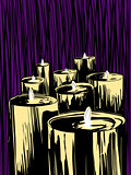 Candles Over Purple