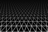 Geometric latticed texture. Perspective view.