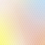 Ornament of geometric shapes placed on abstract creative concept multicolored blurred background. Vector illustration. Colorful banner. Backdrop with place for your text. Bright multicolor texture