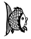 Graphic ornament fish