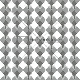Tile vector pattern with grey floral print