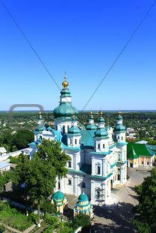 beautiful monastery with nice domes