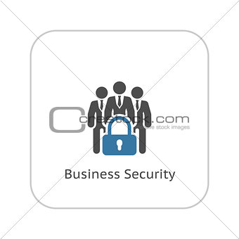 Business Security Icon. Flat Design.
