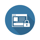 Online Security Icon. Flat Design.