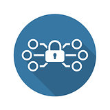 Network Protection Icon. Flat Design.