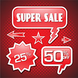 Blowout end of season sale 50 off speech bubble coupon