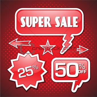 Blowout end of season sale 50 off speech bubble coupon
