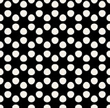 Vector Seamless Hexagonal Circle Rounded Pattern