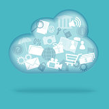 cloud of web  icons
