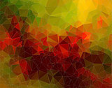 Geen red abstract polygonal background