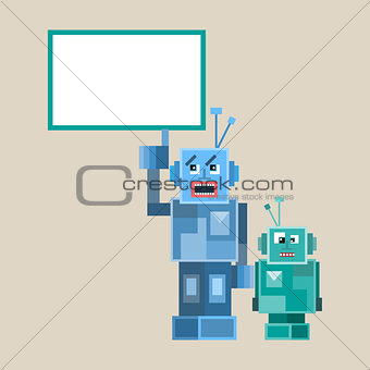 too Robotes and characters