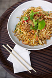 Asian noodles on a plate