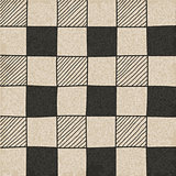 Hand drawn abstract chessboard pattern.