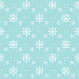 Snow Flakes Pattern Seamless on Blue Background
