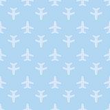 Blue seamless aircraft art background