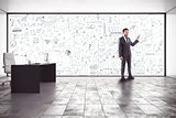 Business analysis in an office