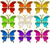 Colorful Buttons Set, Butterflies