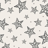 Vector seamless stars pattern