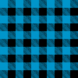 Tiled Blue and Black Flannel Pattern Illustration