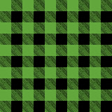 Tiled Green and Black Flannel Pattern Illustration