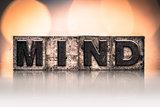 Mind Concept Vintage Letterpress Type