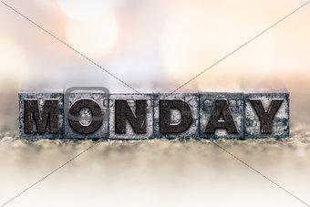 Monday Concept Vintage Letterpress Type