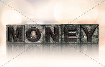 Money Concept Vintage Letterpress Type