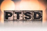 PTSD Concept Vintage Letterpress Type