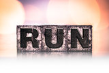 Run Concept Vintage Letterpress Type