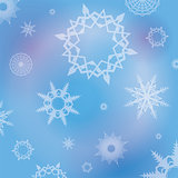 Winter Snowflakes Background Illustration