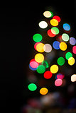 Blurry Chrismas tree background
