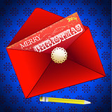 Merry Christmas envelope background