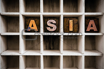 Asia Concept Wooden Letterpress Type in Draw