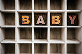 Baby Concept Wooden Letterpress Type in Draw