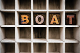 Boat Concept Wooden Letterpress Type in Draw
