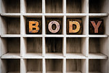 Body Concept Wooden Letterpress Type in Draw