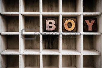 Boy Concept Wooden Letterpress Type in Draw