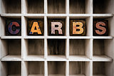 Carbs Concept Wooden Letterpress Type in Draw
