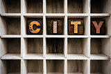 City Concept Wooden Letterpress Type in Draw