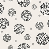 Seamless pattern with sketch circles.