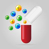 Vector health vitamin background