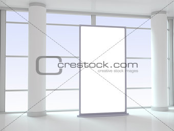 Blank Advertising Panel in Office