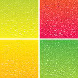 vector backgrounds set for different types juice