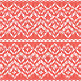 Knitted Seamless Pattern in Gray and Peach Colors