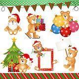 Christmas Teddy Bear Clipart Digital